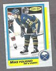 1986-87 OPC Sabres Mike Foligno, Box-Bottom, Blank-Back