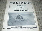 Oliver White Tractor 14-2 14-4 14-6 Drawn Rotary Hoes Dealer's Parts Book