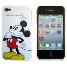 For iPhone 4 / 4S 4G Disney Classic Mickey Mouse White Snap On Fitted Case