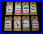 PRIMITIVE HANG TAGS WITH AMERICANA SAYINGS FOR THE 4TH OF JULY