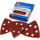 Velcro Detail Sander Sheets 15pc 90mm Triangle Mixed  60 80 120 Grit Sanding Pad