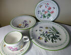 MIKASA STUDIO NOVA #Y2372 GARDEN BLOOM 5 PC. PLACE SETTING PLATE BOWL CUP SAUCER