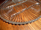 Astounding Round Heavy Midcentury Vintage Glass Serving Tray Platter Bowl Plate