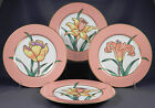 FITZ & FLOYD FLEUR MEADOW FLOWERS Set of Four (4) Salad Plates
