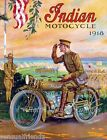 Indian Motorcycle Poster Vintage Advertising Antique Ad 1918 8 X 10 World War 1