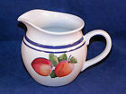 Lenox Fruit Groves Creamer, Fruit on White with Blue Trim