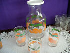 ANCHOR  HOCKING OJ BREAKFAST DECANTER AND GLASS SET BEAUTIFUL  MORINING SET