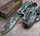 TAC-FORCE Speed Assisted Green & Black DIGITAL CAMO Tactical Speedster Knife NEW