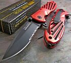 TAC-FORCE Assisted Opening Speedster RED High Carbon Rescue Glass Breaker Knife!