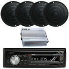 Silver Kenwood Marine Boat Yacht Stereo Receiver 4 Speakers And 400W Amp