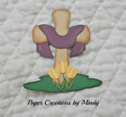 Easter Cross premade paper piecing for scrapbooking