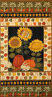 Andover Second Harvest Sunflower Wheat Leaves Pumpkin Autumn Cotton Fabric PANEL