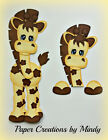 Giraffe Set jungle zoo premade paper piecing for scrapbooking page album border