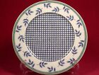 Villeroy & Boch Castell Switch 3 Salad Plate (s) Germany Blue Plaid Leaves Green