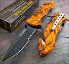 TAC-FORCE Speed Assisted ORANGE CAMO Glass Breaker Rescue Speedster Knife NEW!!