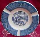 CURRIER & IVES ROYAL CHINA ASHTRAY S BLUE WHITE NEVER USED CANDY DISH VINTAGE