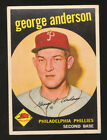 1959 TOPPS #338 GEORGE SPARKY ANDERSON PHILLIES ROOKIE BASEBALL CARD EX MT NM