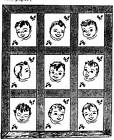 Copy Vintage Mail Order Transfer 7512 Quilt Blocks Crib Cover Baby Face