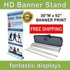 """36"""" Pro Line Retractable Banner Stand with Print Included for Trade Shows"""