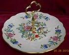 AYNSLEY PEMBROKE CAKE PLATE TIDBIT TRAY HANDLE 10 3/4