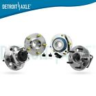 New 4pc Front  Rear Wheel Hub and Bearing Assembly for GM FWD w ABS