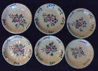 6 VINTAGE CANTAGALLI POTTERY FAIENCE ITALY FLORAL SIDE PLATES SAUCERS