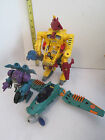 Lot of three vintage playmates EXOSQUAD Robot suits and Spaceship Exo Squad