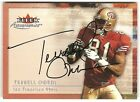 2000 Fleer Tradition Terrell Owens Autographics Auto Card 49ers P1014