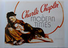Modern Times 1936 Charlie Chaplin Goddard German Reprint Movie Poster 26x34