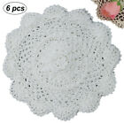 6PCS ROUND Cotton Crochet Lace Doily 4