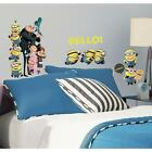 31 New DESPICABLE ME 2 MOVIE WALL DECALS Gru & Minions Stickers Kids Room Decor