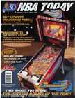 NBA FASTBREAK By BALLY 1997 ORIGINAL NOS PINBALL MACHINE SALES FLYER BROCHURE