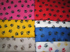 POLAR fleece ANIMAL paw puppy dog print fabric by the yard BTY