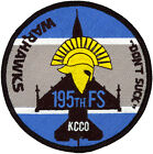 USAF 195th FIGHTER SQUADRON WARHAWKS PATCH