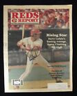 Barry Larkin Signed 1989 Cincinnati Reds Report Magazine - JSA COA # J05106