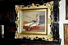 Old Museum Quality Fish Catch Painting Large Oil Painting