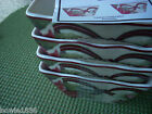 NWT 222 FIFTH YULETIDE CELEBRATION   SET OF 4 APPETIZER DESSERT PLATES