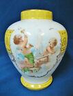ROYAL VIENNA ACKERMANN FRITZE BEEHIVE PORCELAIN VASE CHERUBS YELLOW WHITE GOLD