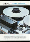 Collectible Teac A-7030U Reel To Reel Stereo Tape Deck Dealer Brochure Info Ad