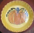 Vintage Pumpkin Pie Plate Los Angeles Potteries Ovenware Cute Kitchen Decor 70's
