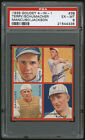 1935 Goudey 4-in-1 Baseball Card #3B Bill Terry Frankie Frisch Puzzle PSA 6