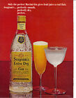 Seagrams Extra Dry Gin 1965 Vintage Print Ad