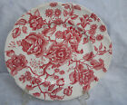 JOHNSON BROTHERS ENGLISH CHIPPENDALE RED DINNER PLATE FLORAL ENGLAND