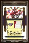 2008 TREASURES JERRY RICE AUTO PATCH #D 10 75TH ANNIVERSARY TEAM MINT 49ERS
