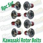 8PC ROTOR BOLT KIT KAWASAKI KX125 KX250 KXF 250 450 F&R DISC BRAKE KLX450