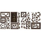FAMILY PHOTO FRAMES 50 BiG Wall Decals Brown Tree Leaves Room Decor Stickers NEW