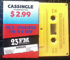 THE D GENERATION 2 TRACK CASSETTE TAPE FIVE IN A ROW 1989 MADE IN AUSTRALIA