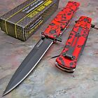TAC-FORCE SPEEDSTER Spring Assisted Opening RED SKULL CAMO Stiletto Knife NEW!