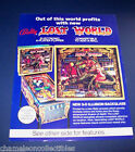 LOST WORLD BALLY 1978 ORIGINAL PINBALL MACHINE ADVERTISING SALES FLYER BROCHURE