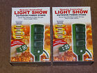 (2) New Prime Remote Controlled Light Show Outdoor Power Stake Holiday Christmas